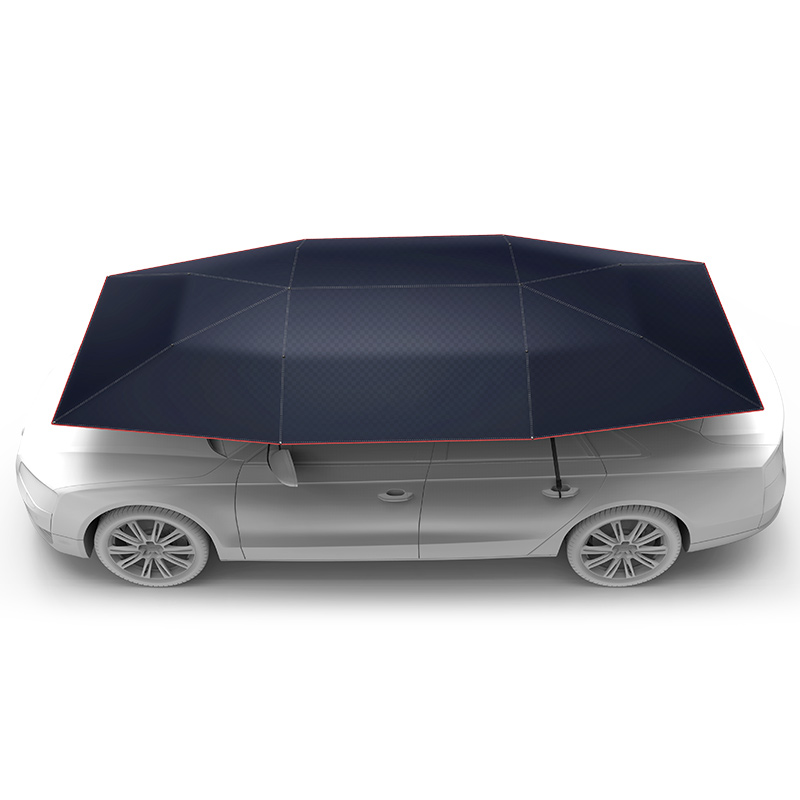 2017 new product logo print sunshade portable car cover