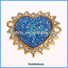 Wholesale Jewellery Findings Pave Rhinestone Connectors For Bracelets OMC-044B