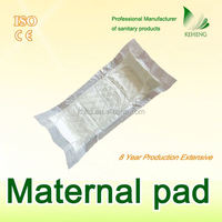 soft cotton surgical Large maternal T-shape pad with bottom PE film bulk