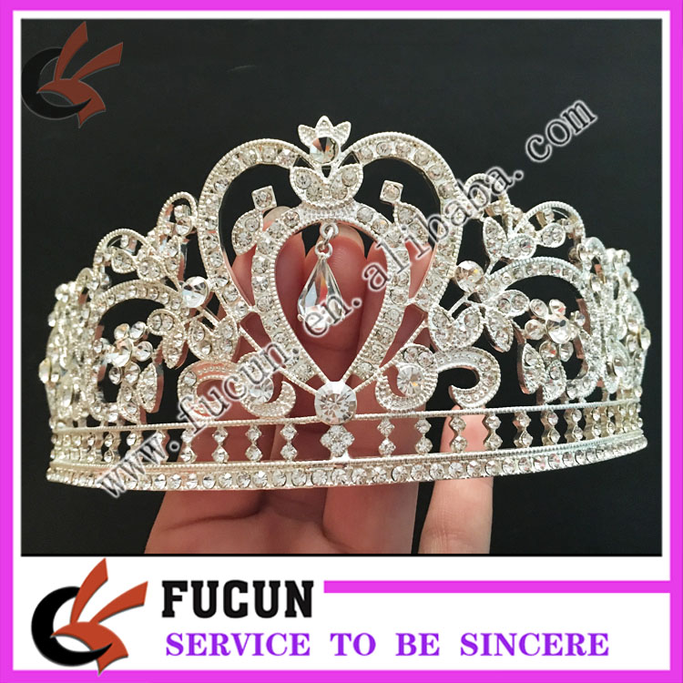 cheap wedding accessories silver alloyed fashion bridal tiara wedding rhinestone hair crowns