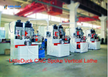 FULL-AUTO NUMERICAL CONTROL VERTICAL LATHE for wheel spoke