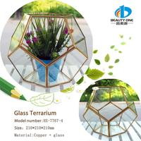 HX-7767 New Design Clear Expensive Handblown Colored Glass Vases Terrariums