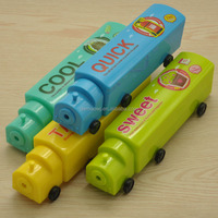 NEW!! Train Type Two Layer Students Plastic Pencil Case Pencil Gift Box