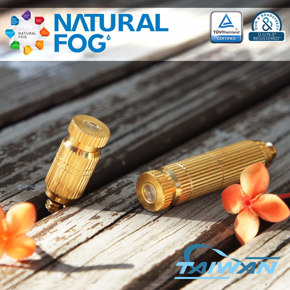 Natural Fog Greenhouse Mushroom Growing Anti Drip Cleanable Brass Fog Mist Spray Nozzle