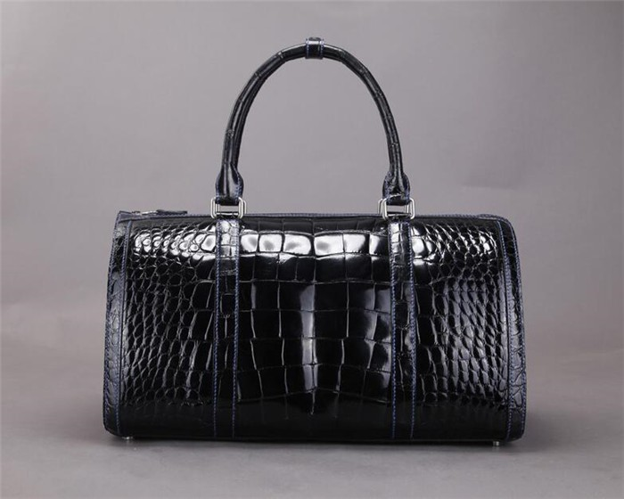New Arrival OEM High End Luxury Genuine Crocodile Leather Duffle Bag for Men Travel Bag _5