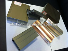 qualify aluminium cladding profiles to make window and door for wood grain/anodzing/polished/cladding aluminium