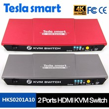 High Quality 2 port Auto HDMI KVM Switch Support USB2.0 Device
