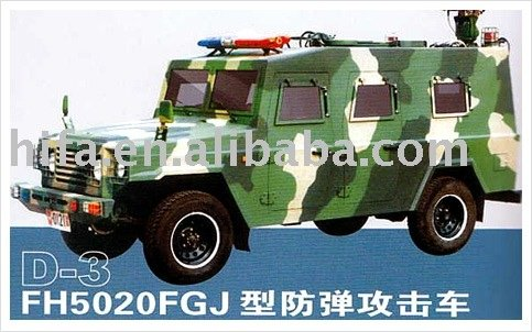 bulletproof attack vehicle for military Police Civil security use