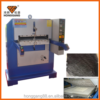 Honggang leather logo embossed hot stamping machine