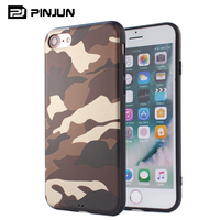 Hot sale for iphone 7 case soft tpu mobile phone case pu camouflage skin cover for iphone 7 8