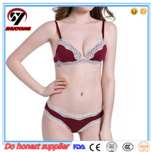 Wholesale cotton Double Seemless Push Up Bras High Quality Sexy Bra And Panty New Design