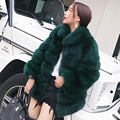 CX-G-A-110A High Quality Women Fashion Elegant Real Fox Fur Coat