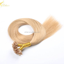 First selling human hair direct factory top quality pre bonded hair extensions 1g u tip