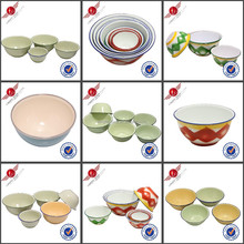 Wholesale High Quality Enamelware Bowls Metal Enamel Bowls