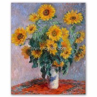 Claude Monet Oil Painting Reproduction on Canvas of Bouquet of Sunflowers