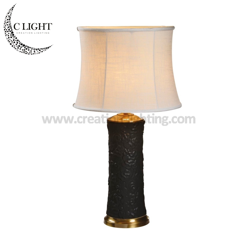 Black Painting Table Lamp Lights for Hotels / Castle