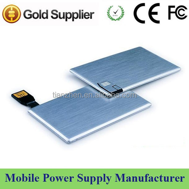 Promotional mini power bank with usb flash drive in card shape exide battery power bank