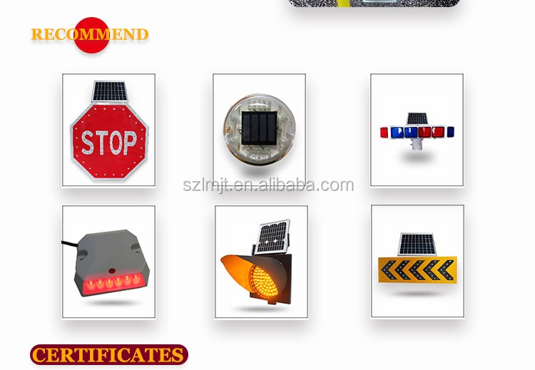 IP65 waterproof octagon LED flashing stop sign solar traffic sign board