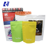 Customized biodegradable matte finish stand up pouches with zipper for snack food