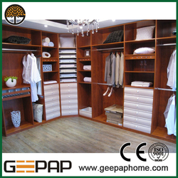 American style Elegant Cheapest wooden clothes storage cabinet