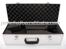 Professional silver luxurious aluminum helicopter 450 case