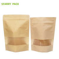 China standing pouch kraft paper coffee scrub packaging with zipper