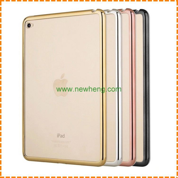 hot sale luxury electroplating TPU protective case for Ipad air