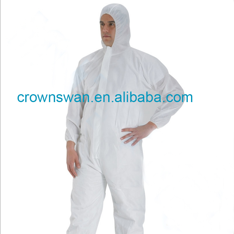 Disposable Medical Protective Isolation Oil Resistant Workman's Coverall