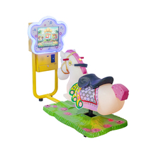 Children indoor kiddie rides coin operated arcade simulator horse racing game machine