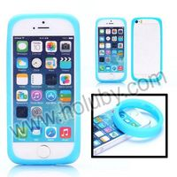 New Arrival Style Luminous Elastic Silicone Bumper Case For iPhone 5S 5 With Wrist Ring