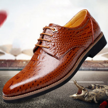 SM1029 Genuine leather fashion man pointed toe dress leather shoes