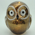 LED glass owl shape light ornaments