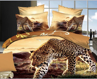 100% cotton 3D Reactive printed fabric animal tiger design for bed sheet/ comforter/ fitted sheet
