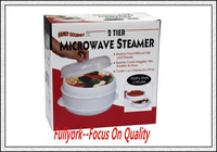 Handy Gourmet 2 Tier Steamer Cooker Microwave Dish Universal Eco Chef Food Cooking Rice