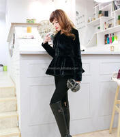 Korea style women winter faux fur jacket coat