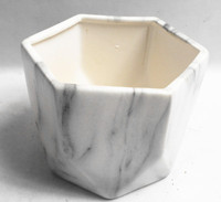 Marbling geometric flower planter pot ,ceramic succulent flower pot