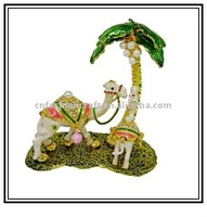 2011 Camel stand coconut tree Metal jewelry box,Fashion jewelry box