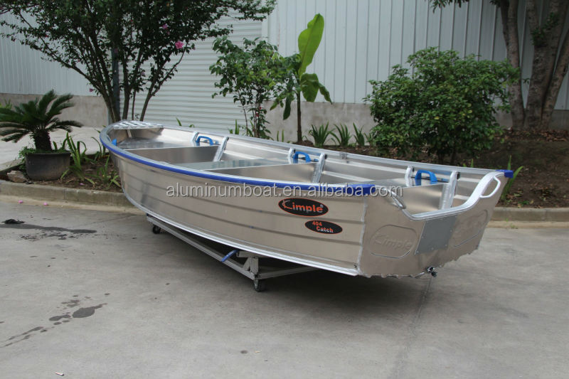 Aluminum fishing boat 404 rowing ideal for rowing for Fishing row boats