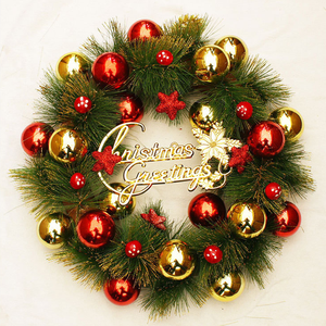 New design Christmas door decorated Christmas Ball garland wreath