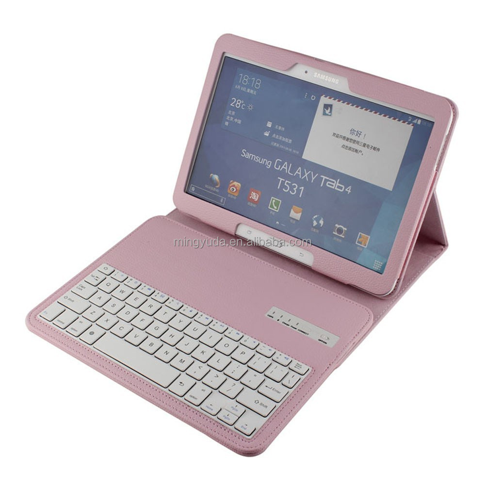 Portable detachable wireless keyboard shockproof case for samsung galaxy tab 10.1