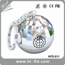 Hot Christmas gift- best ball MP3 wireless Speaker bluetooth with keychain accessory