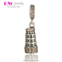 925 Sterling Silver Low Price Custom Logo Tower Vintage Charms