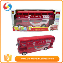 plastic toy car city link bus double decker bus