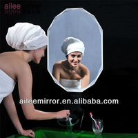 2013 new products translucent glass double sided pocket mirror magnify plastic acrylic mirror