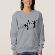 Best Selling Trendy Relaxed Fitted Pullover Grey Printed French Terry 100% Cotton Custom Hoodies Woman Wholesale