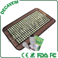 Hot selling 48*79cm portable infrared jade stone heating massage mattress