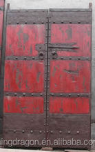 Antique chinese rustic painting solid wood door
