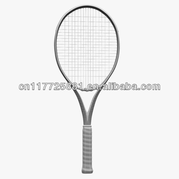 Tennis Racquet 27-inch with 58 to 63lbs String Tension, Made of Graphite
