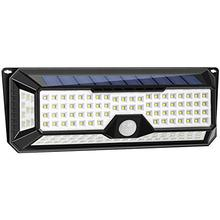 New Upgraded Solar PIR Lights Outdoor, Super Bright Wireless 136LED Lights of 4 Sides with Wide Lighting Area