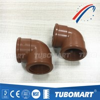 PPH elbow plastic Fittings PPH Pipe Fittings with BSP thread